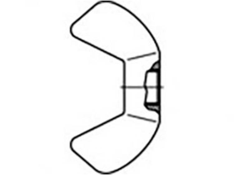 Vleugelmoeren M6 Staal