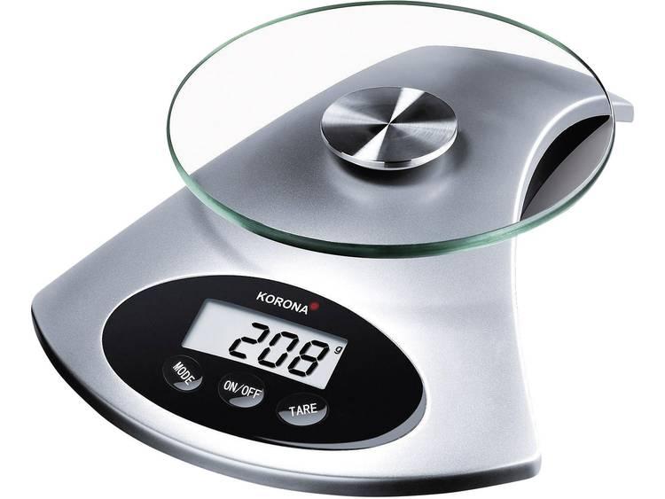 Korona 5826120 Sandy keukenweegschaal glas-zilver