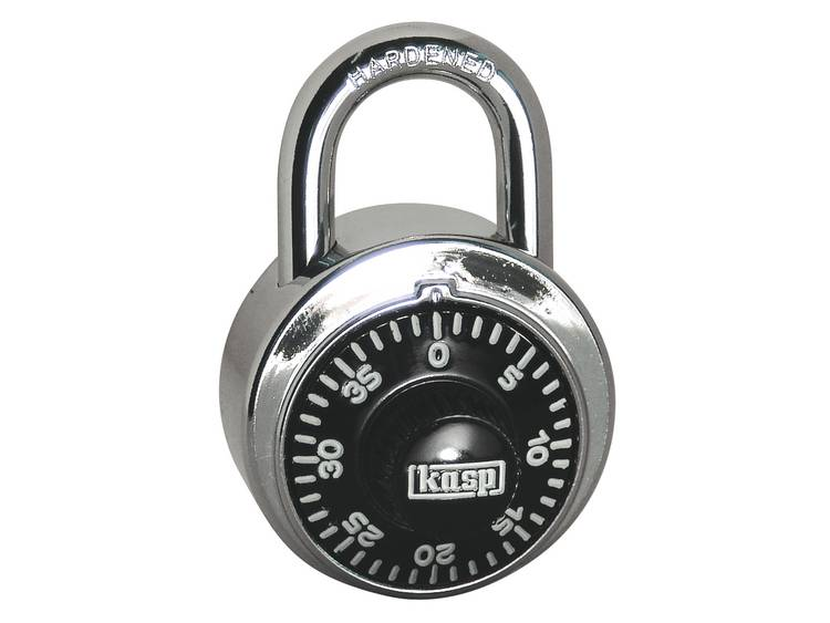 Kasp K11548D Cijferslot, rond, 48 mm, met 40 cijfers = 60.000 combinatiemogelijkheden
