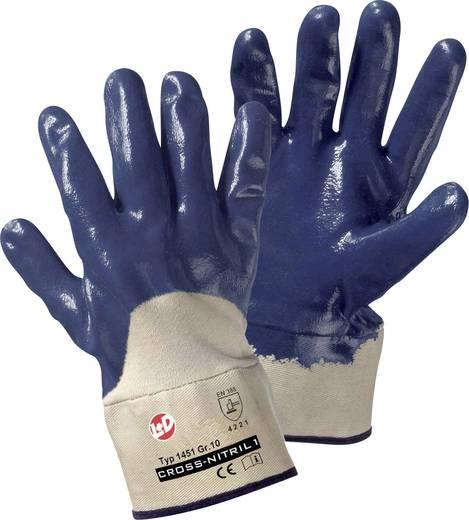 Leipold + Döhle 1451 Handschoen Cross Nitril Nitrilrubber, gedeeltelijk gecoat Maat (handschoen): 10, XL