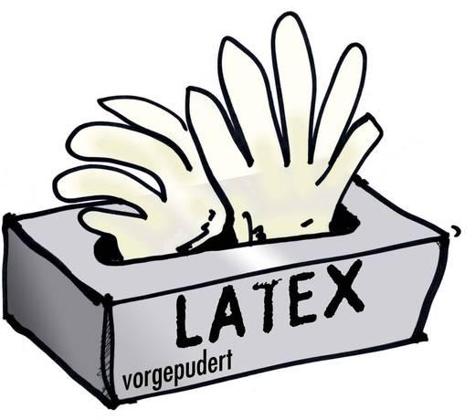 Leipold + Döhle 14699 Latex wegwerphandschoenen, bepoederd Maat: L 100 stuks