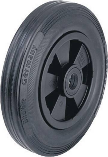 Blickle 20743 Wiel met massief rubberen band en velg van kunststof met rollager, Ø 160 mm Uitvoering (algemeen) Luchtband