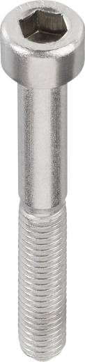 TOOLCRAFT Cilinderschroeven M3 8 mm Binnenzeskant (inbus) DIN 912 RVS A2 1 stuks