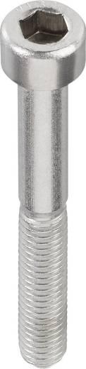 TOOLCRAFT Cilinderschroeven M4 8 mm Binnenzeskant (inbus) DIN 912 RVS A2 1 stuks