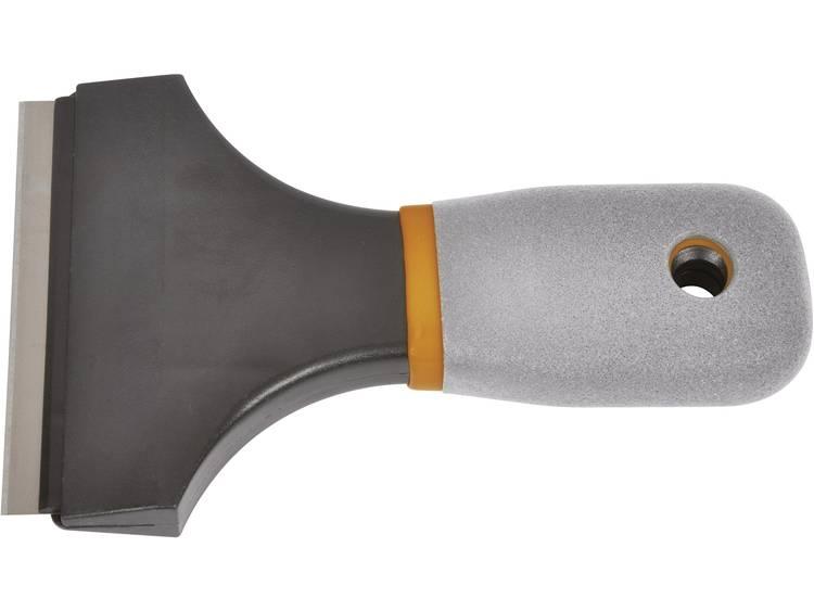 Schraper met veelvoudig verstelbare kling voor verschillende schraapdieptes om verf, lijm en plamuur