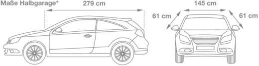 cartrend PKW Halbgarage wetterfest, Größe M Halve autobeschermhoes (l x b x h) 279 x 145 x 61 cm Maat M Audi A3, BMW kla
