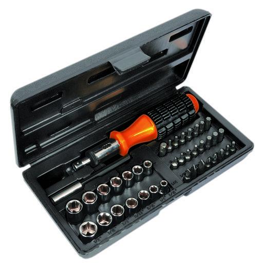"""AVIT Werkplaats Ratel schroevendraaier 1/4"""" (6.3 mm) 57 mm"""