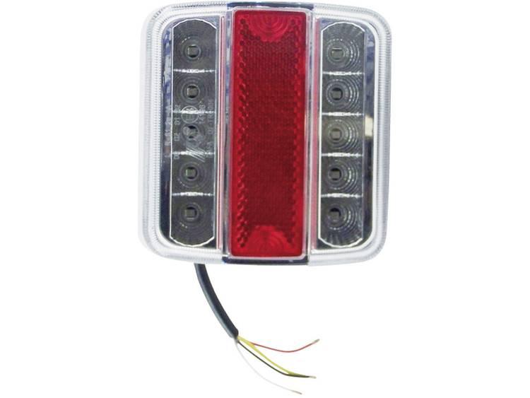LED Aanhangerachterlicht Knipperlicht, Remlicht, Achterlicht, Kentekenverlichting rechts 12 V Rood, Zilver Berger Schröter Helder glas
