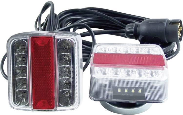 Image of LED Verlichtingsset Knipperlicht, Remlicht, Kentekenverlichting, Achterlicht rechts, links 12 V Transparant Berger & Schroter Helder glas, Incl. magneethouder