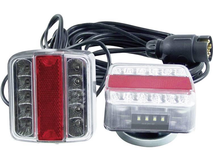 LED Verlichtingsset Knipperlicht, Remlicht, Kentekenverlichting, Achterlicht rechts, links 12 V Transparant Berger Schröter Helder glas, Incl. magneethouder