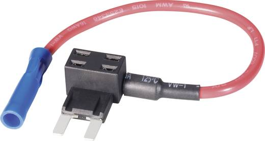 Vlakke zekeringsadapter met opnemer Mini Kabeldoorsnede 1,5 mm²