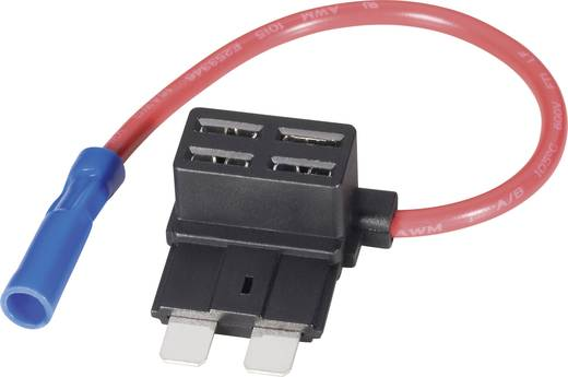 Adapter voor vlakke zekeringen met aftakking Standaard Kabeldoorsnede 1,5 mm²