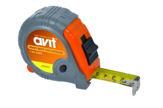 AVIT AV02012 Rolmaat, zelfoprollend, tot 7,5 m uittrekbaar en vergrendelknop