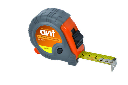 AVIT AV02011 Rolmaat, zelfoprollend, tot 5 m uittrekbaar en vergrendelknop