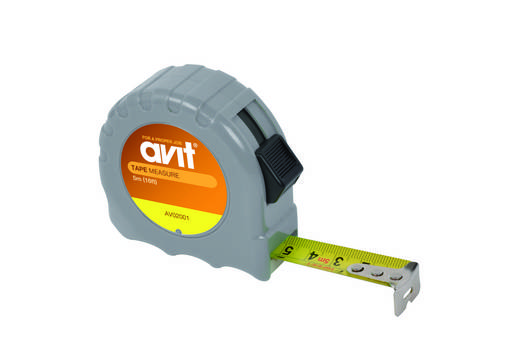 AVIT AV02001 Rolmaat, intrekkend, tot 5 m uittrekbaar