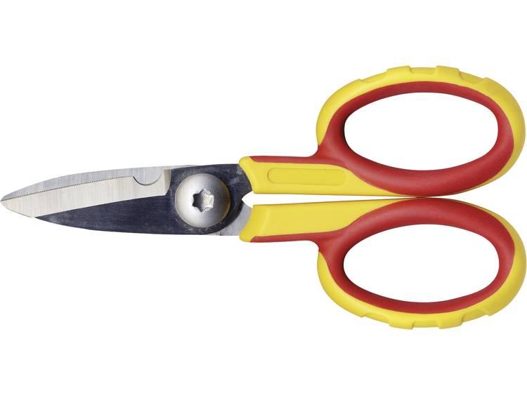 C.K. 492001 Elektriciensschaar Geel rood