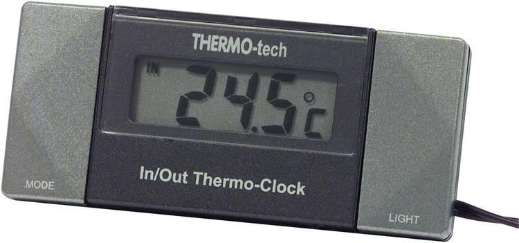 Image of 4518 Herbert Richter Thermometer Kabelsensor, Standvoet, Binnentemperatuur, Buitentemperatuur, 12 h-weergave -50 tot +70 C