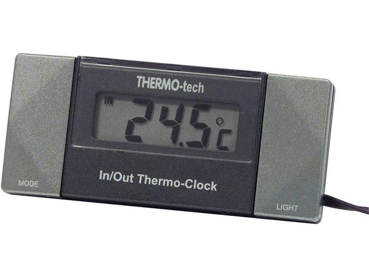 4518 Herbert Richter Thermometer Kabelsensor, Standvoet, Binnentemperatuur, Buitentemperatuur, 12 h weergave 50 tot 70 °C