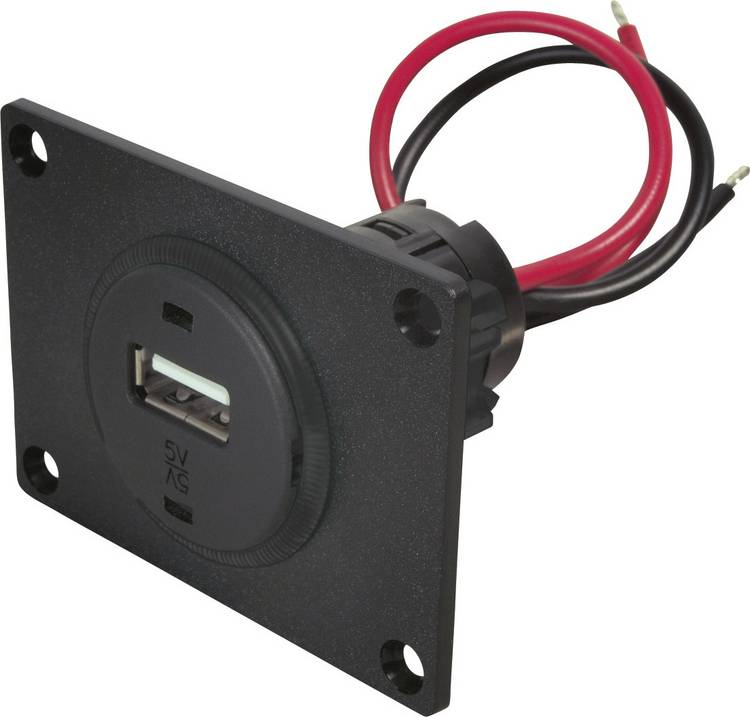 ProCar 67312501 USB-inbouwcontact Stroombelasting (max.): 1 A