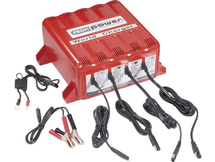 Profi Power Professionele Power 4x automaat.-Oplader 4 A 12 V Automatische acculader 12 V