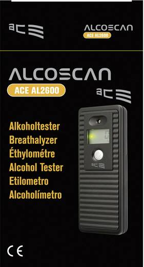 ACE AL-2600 Alcoholtester Meetbereik alcohol (max.): 4 ‰ Incl. display Zwart