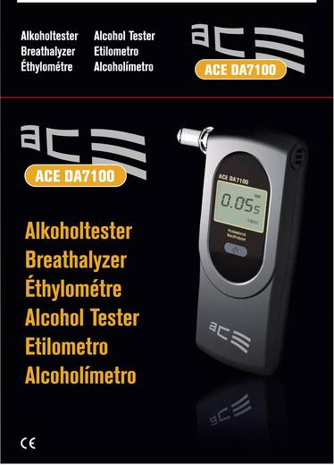 ACE DA-7100 Alcoholtester Meetbereik alcohol (max.): 5 ‰ Incl. display