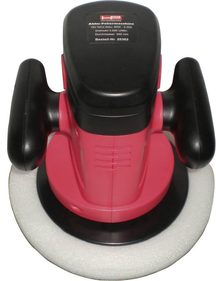Excentrische accu-polijstmachine 60 W HP Autozubehor 20362 3000 omw min (max) 240 mm