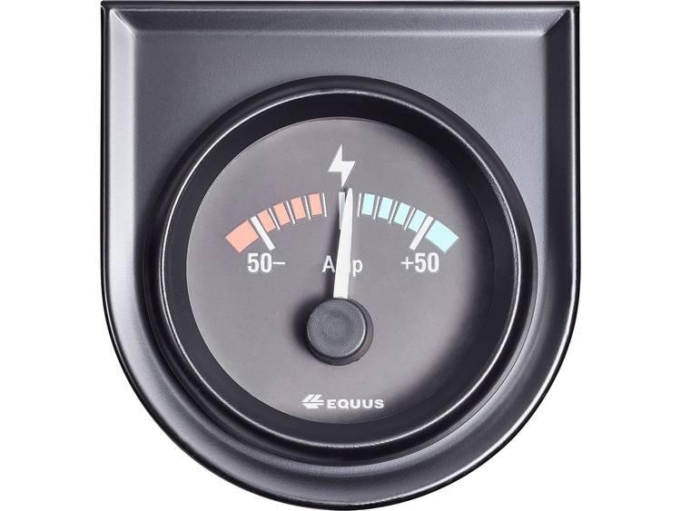 Equus 842052 Inbouwmeter (auto) Ampèremeter Meetbereik 50 50 A Standart Geel, Rood, Groen 52 mm