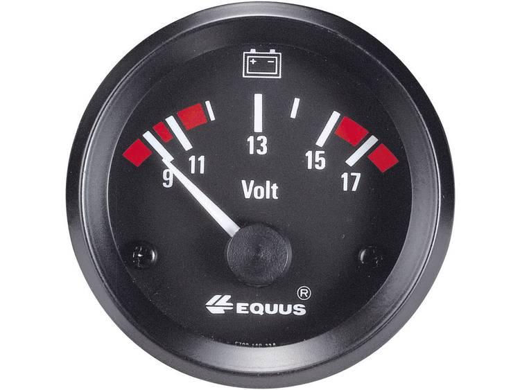 Equus 842060 Inbouwmeter (auto) Voltmeter Meetbereik 9 17 V Standart Geel, Rood, Groen 52 mm