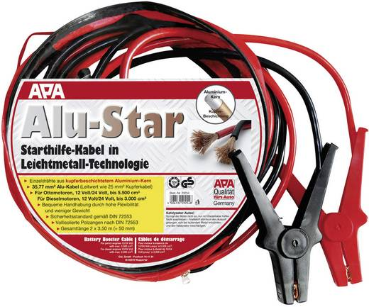 APA Starthilfekabel Alu-Star 36 mm² Startkabels 40 mm² Aluminium (kopergecoat) 3.50 m met kunststof klemmen Aluminium (k