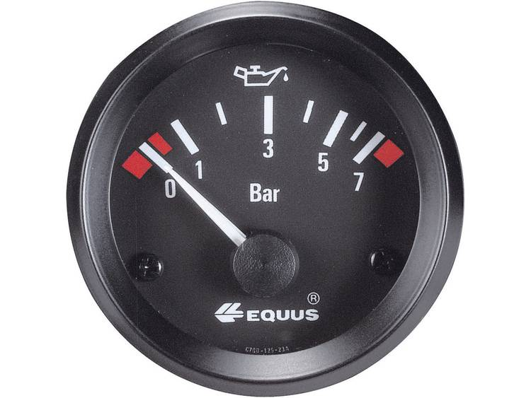 Equus 842095 Inbouwmeter (auto) Oliedrukweergave Meetbereik 0 7 bar Standart Geel, Rood, Groen 52 mm