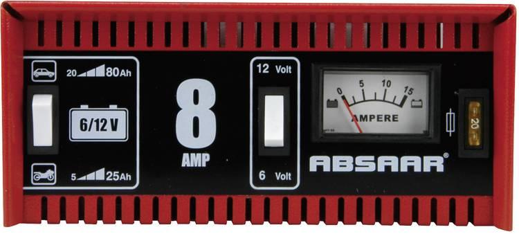 Acculader Absaar 8A 6 12V 77911 6 V. 12 V 8 A
