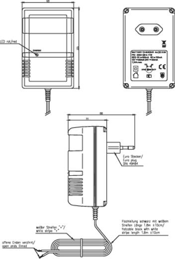 Stekkerlader Ansmann ALCS 2-24 9164015-510 2 V, 6 V, 12 V, 24 V