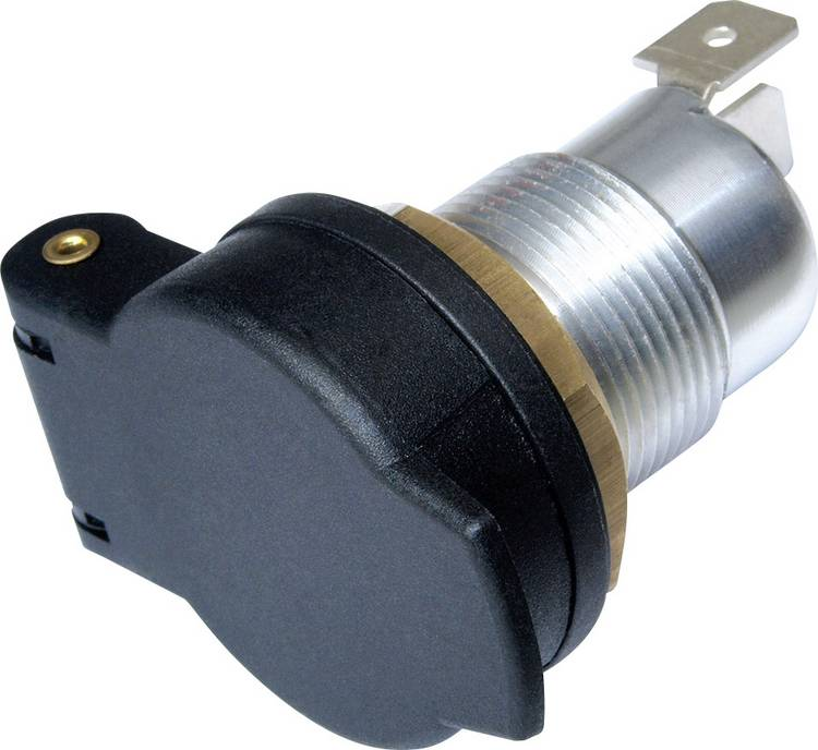 Image of ProCar 53114322 53114320 53114321 Norm-stopcontact met deksel Stroombelasting (max.)=16 A Geschikt voor Genormaliseerde en universele stekker