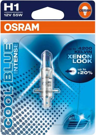 Halogeenlamp OSRAM Cool Blue Intense H1 12 V 1 stuks P14.5s (Ø x l) 9 mm x 67 mm