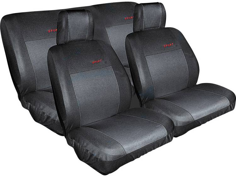 Eufab 28059 Autostoelhoes Katoen, Polyester Zwart Achterbank, Bestuurder, Passagier
