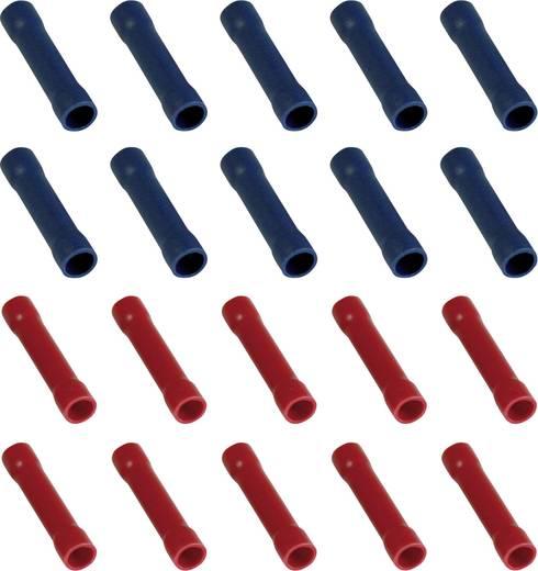 Stootverbinder 0.25 mm² Volledig geïsoleerd Rood, Blauw 323007 20 stuks