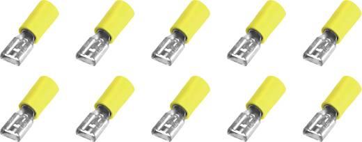 Vlakstekker Insteekbreedte: 6.3 mm Insteekdikte: 0.8 mm 180 ° Deels geïsoleerd Geel 10 stuks