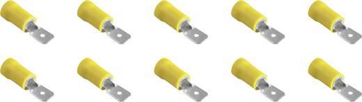 323011 Vlakstekker (plat) Insteekbreedte: 6.3 mm Insteekdikte: 0.8 mm Deels geïsoleerd Geel 10 stuks