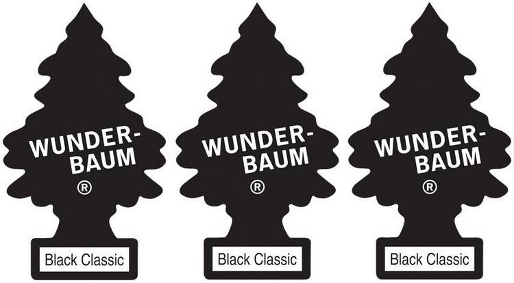 Image of Wunder-Baum Geurkaart Black Ice 3 stuks