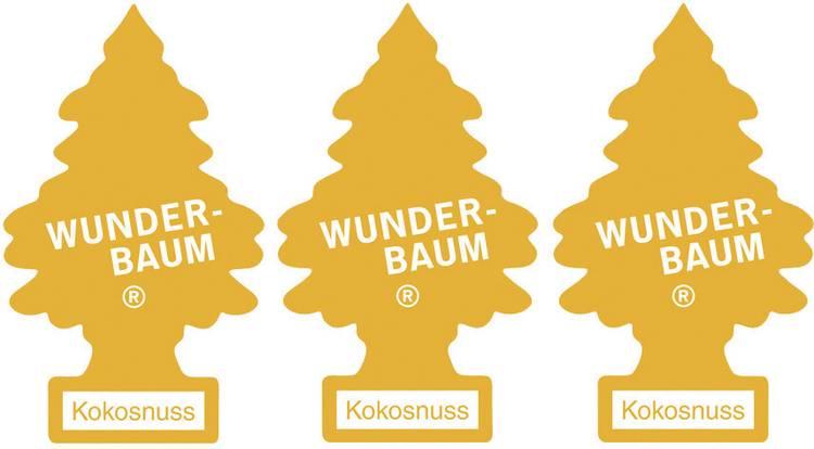 Image of Wunder-Baum Geurkaart Kokos 3 stuks