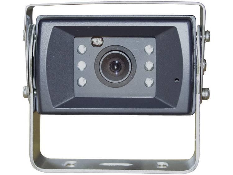 Kabelgebonden achteruitrijcamera Camos 1428 Geïntegreerde microfoon, Geïntegreerde verwarming, Extra IR verlichting, Automatisch diafragma, Automatische