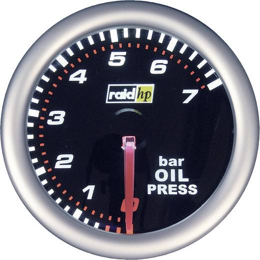 raid hp oliedrukmeter NightFlight Verlichtingskleuren Wit, Rood