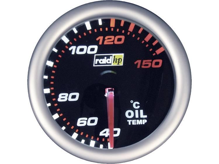 raid hp 660242 Inbouwmeter (auto) Olietemperatuurweergave Meetbereik 40 150 °C NightFlight Wit, Rood 52 mm