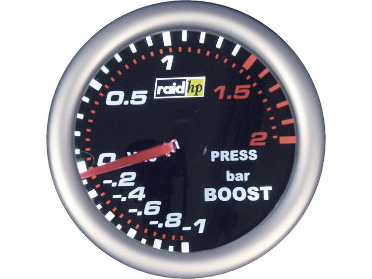 raid hp 660243 Inbouwmeter (auto) Turbodrukweergave Meetbereik -1 - 2 bar NightFlight Wit, Rood 52 m