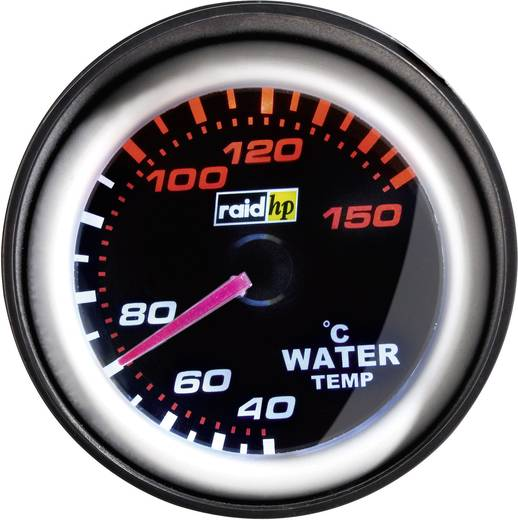 raid hp watertempratuurmeter NightFlight Verlichtingskleuren Wit, Rood
