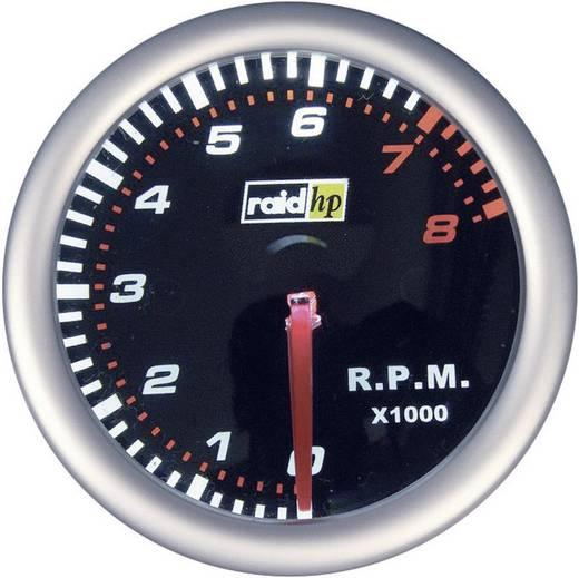 raid hp Toerentalmeter NightFlight Verlichtingskleuren Rood, Wit