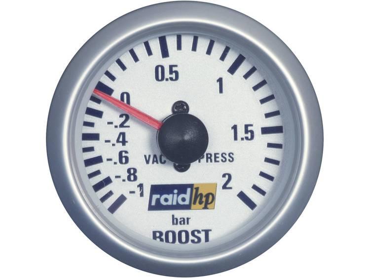 raid hp 660218 Inbouwmeter (auto) Turbodrukweergave Meetbereik 1 2 bar Silber Serie Blauw wit 52 mm