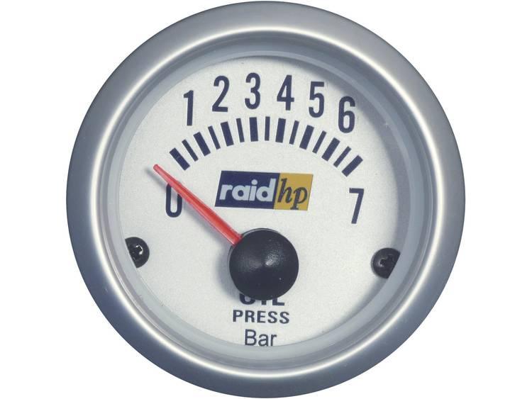 raid hp 660219 Inbouwmeter (auto) Oliedrukweergave Meetbereik 7 0 bar Silber Serie Blauw wit 52 mm