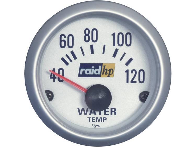 raid hp 660220 Inbouwmeter (auto) Watertemperatuurweergave Meetbereik 40 120 °C Silber Serie Blauw wit 52 mm